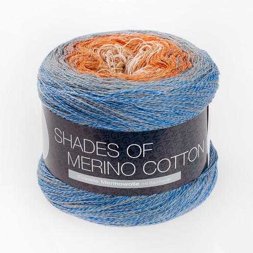Shades of Merino Cotton von Lana Grossa, 609 Sand/Orange/Khaki/Dunkelgrau/Blaugrau