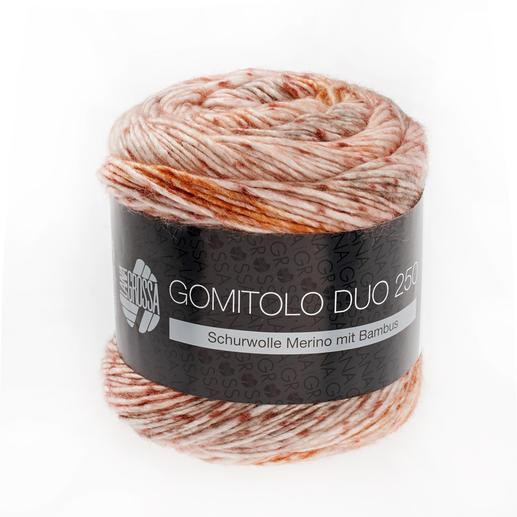 Gomitolo Duo 250 von Lana Grossa, 903 Natur/Pfirsich/Lachs/Orange/Taupe Gomitolo Duo 250 von Lana Grossa
