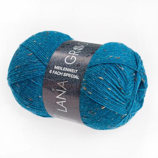 Sockenwolle Meilenweit 6fach Tweed von Lana Grossa Sockenwolle Meilenweit 6fach Special Color von Lana Grossa