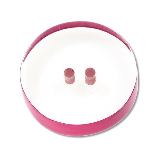 Knopf aus Resin, Ø 2,0 cm, transparent