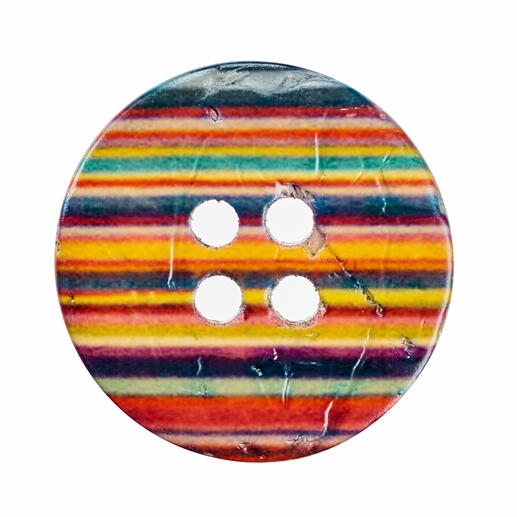 Jim Knopf Streifenknopf 4-Loch, 1 Stück