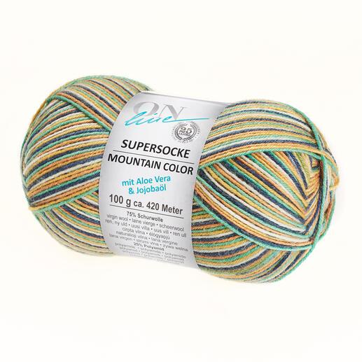 Supersocke 4-fach Mountain Color Sort. 316 von ONline