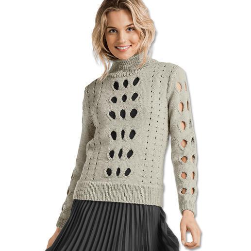Anleitung 193/7, Damen Pullover aus Merino-Cablé von Junghans-Wolle