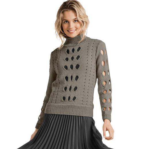 Anleitung 386/7, Damen Pullover aus Merino-Cablé von Junghans-Wolle