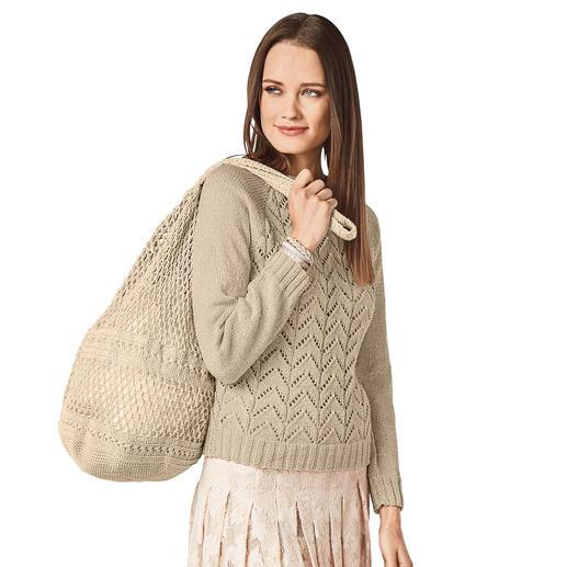 Anleitung 001/8, Damen Raglanpulli aus Cottonprima von Junghans-Wolle