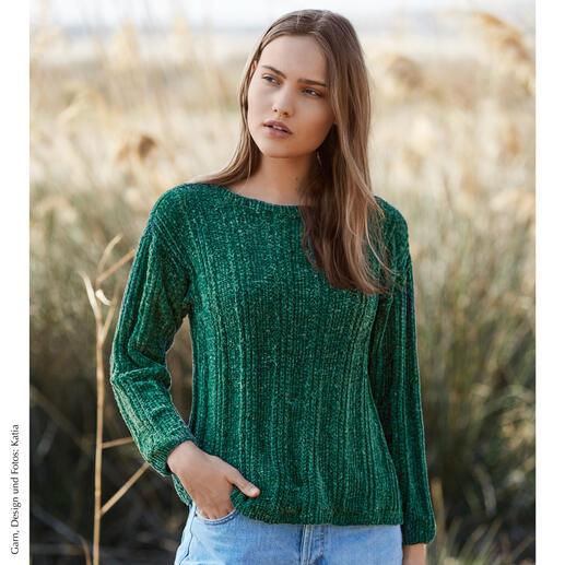 Anleitung 448/8, Pullover aus Velvet Fine von Katia