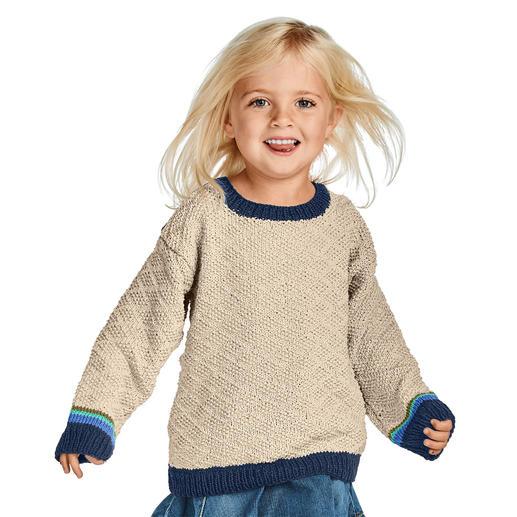Anleitung 005/9, Kinderpullover aus Cottonprima von Junghans-Wolle
