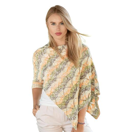 Anleitung 025/9, Ponchopullover aus Cotton Soft Color von Gründl