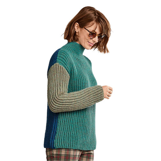 Anleitung 214/9, Pullover aus Merino-Cablé Melange von Junghans-Wolle