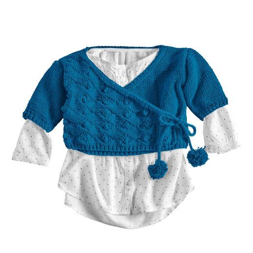 Anleitung 003/0, Baby-Wickeljacke aus Cotonia II von Junghans-Wolle