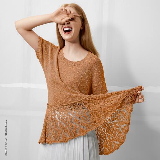 Anleitung 055/0, Pullover aus Marlene Luxe von LANG Yarns