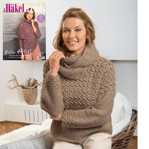 Anleitung 178/0, Pullover, gehäkelt mit Loop aus Alpaca-Cotton von Junghans-Wolle