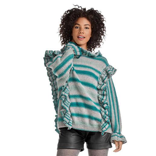 Anleitung 212/0, Pullover aus Cassandra Print von Junghans-Wolle
