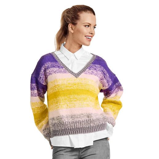 Anleitung 407/0, Damenpullover, 3-fädig aus Rima von Junghans-Wolle
