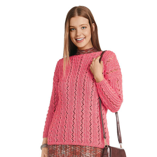 Anleitung 023/1, Pullover aus Recycle & Cotone von Junghans-Wolle