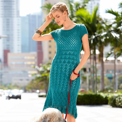 Anleitung 046/1, Kleid aus Seidana® von Junghans-Wolle