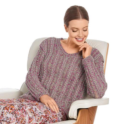 Anleitung 054/1, Pullover aus Oletta von Junghans-Wolle