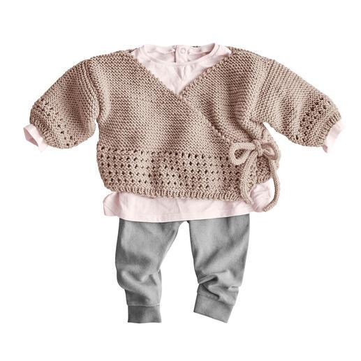 Anleitung 128/1, Baby Wickeljacke aus Merino-Extrafein von Junghans-Wolle
