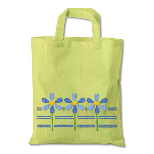 Punch-Needle-Tasche - Blumen