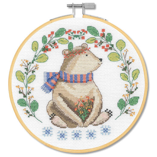 Stickbild - Folk Art Bär