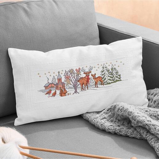 Kissenhülle - Tiere im Winter