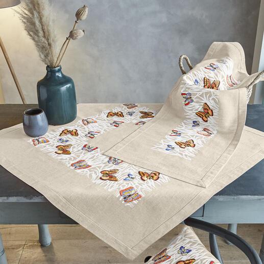 Tischdecke und Tischläufer