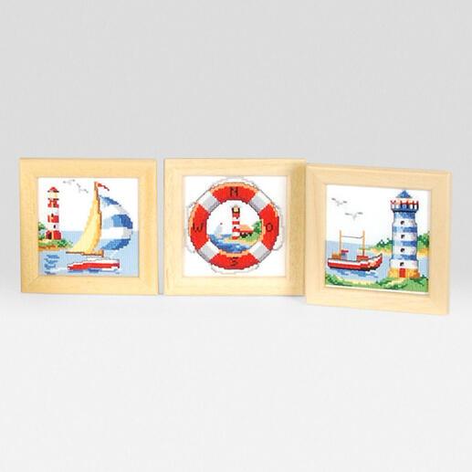 3 Miniaturbilder im Set - Meer