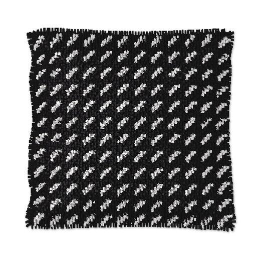 Knüpfkissen - Black & White No. 5