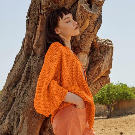 Anleitung 029 Peach Puff, Jacke aus Sunshine von WOOLADDICTS by Lang Yarns
