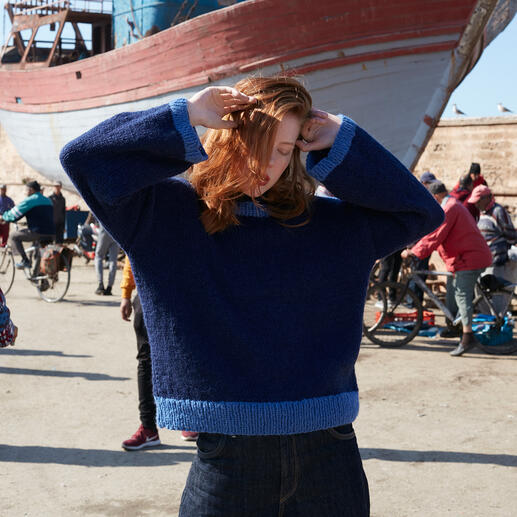 Anleitung 003 Stormy Sea, Pullover aus Earth von WOOLADDICTS by Lang Yarns