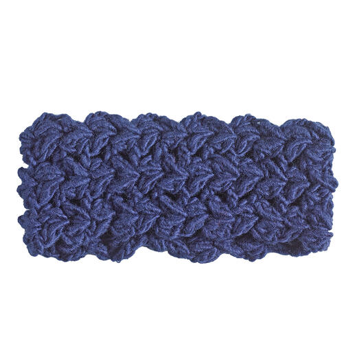 Anleitung 008 Feeling Blue, Stirnband aus Hope von WOOLADDICTS by Lang Yarns