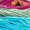 Blaugrün/Violett/Gelb
